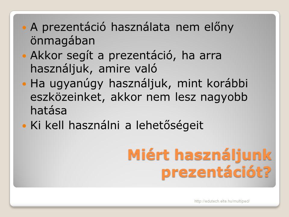 Miért használjunk prezentációt