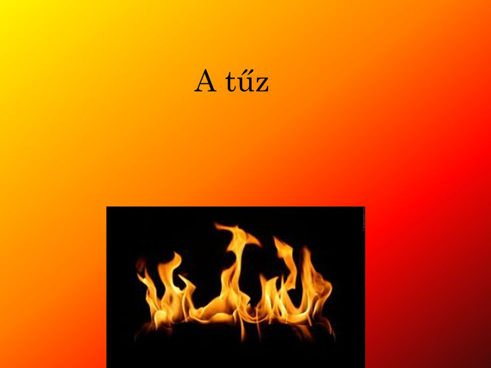 A tűz