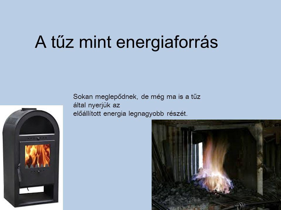 A tűz mint energiaforrás