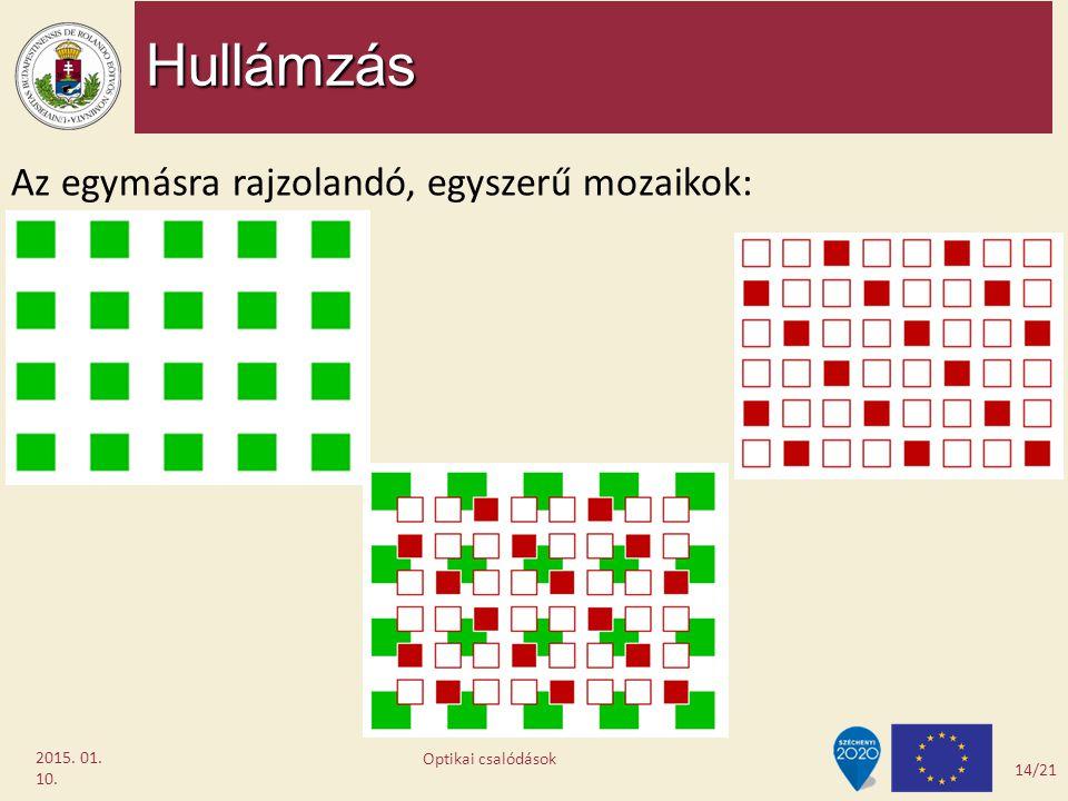 Hullámzás Az egymásra rajzolandó, egyszerű mozaikok: 2017.04.08.