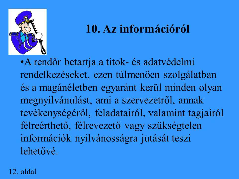 10. Az információról