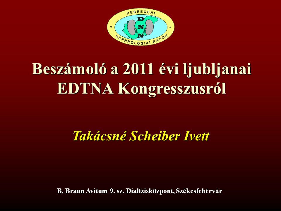 Beszámoló a 2011 évi ljubljanai EDTNA Kongresszusról