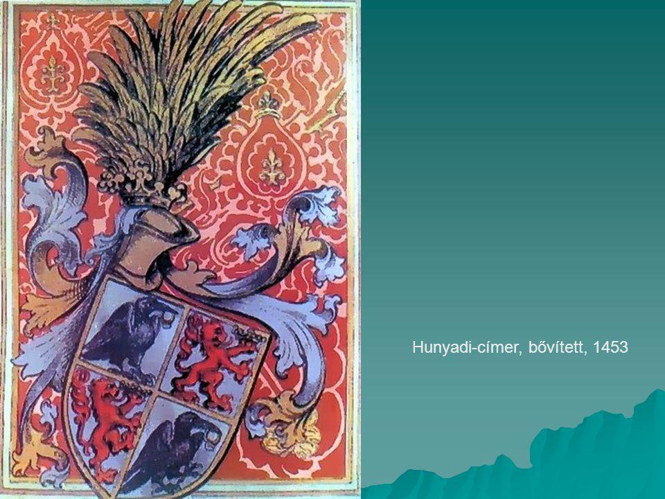Hunyadi-címer, bővített, 1453