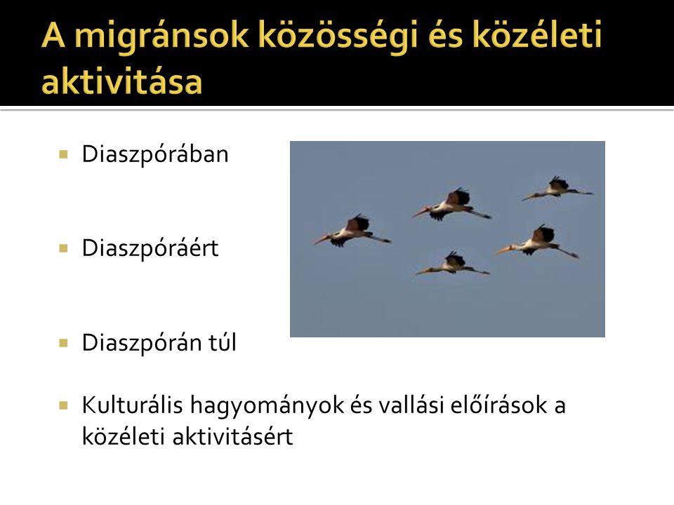 A migránsok közösségi és közéleti aktivitása