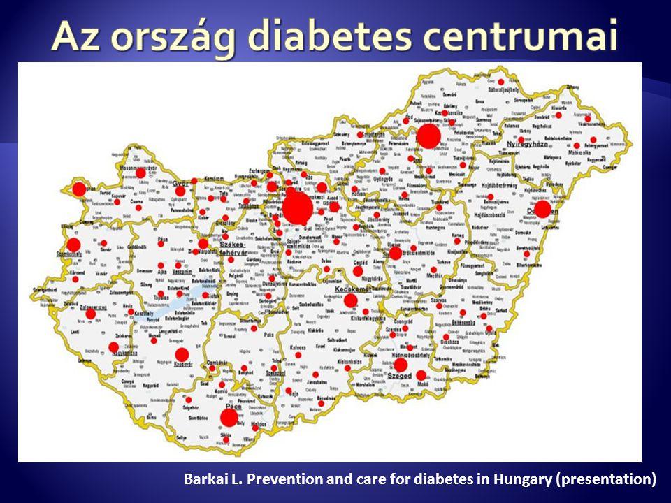 Az ország diabetes centrumai
