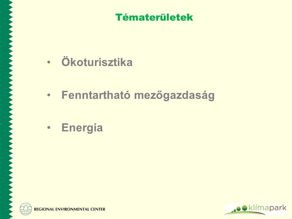 Fenntartható mezőgazdaság Energia