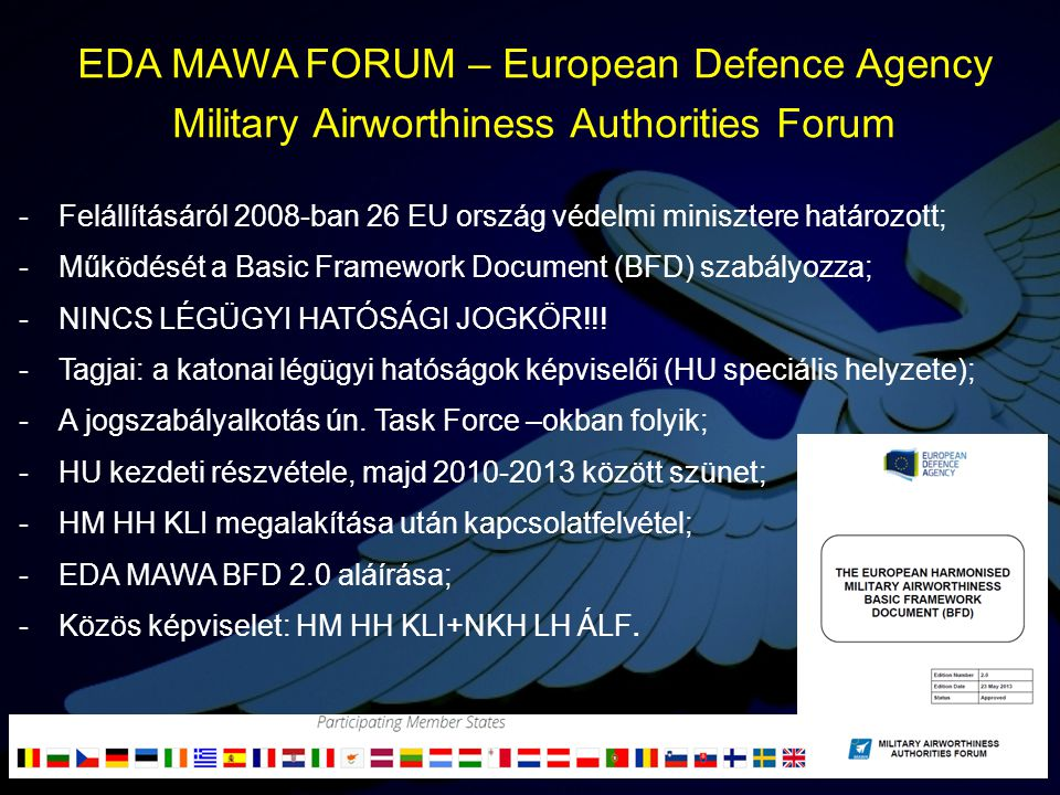 EDA MAWA FORUM – European Defence Agency Military Airworthiness Authorities Forum