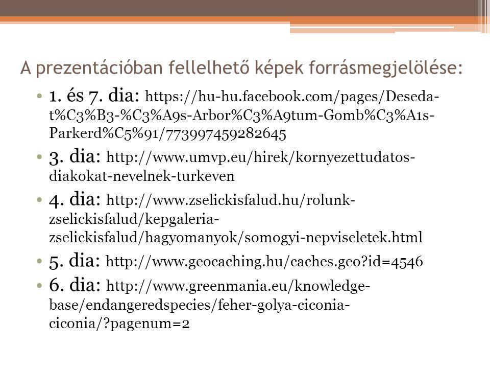 A prezentációban fellelhető képek forrásmegjelölése: