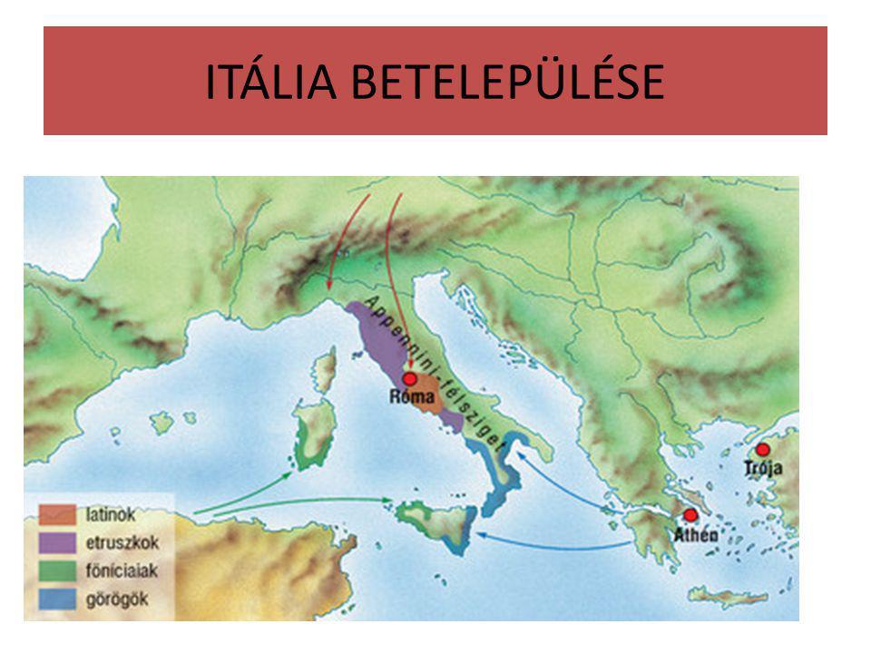 ITÁLIA BETELEPÜLÉSE