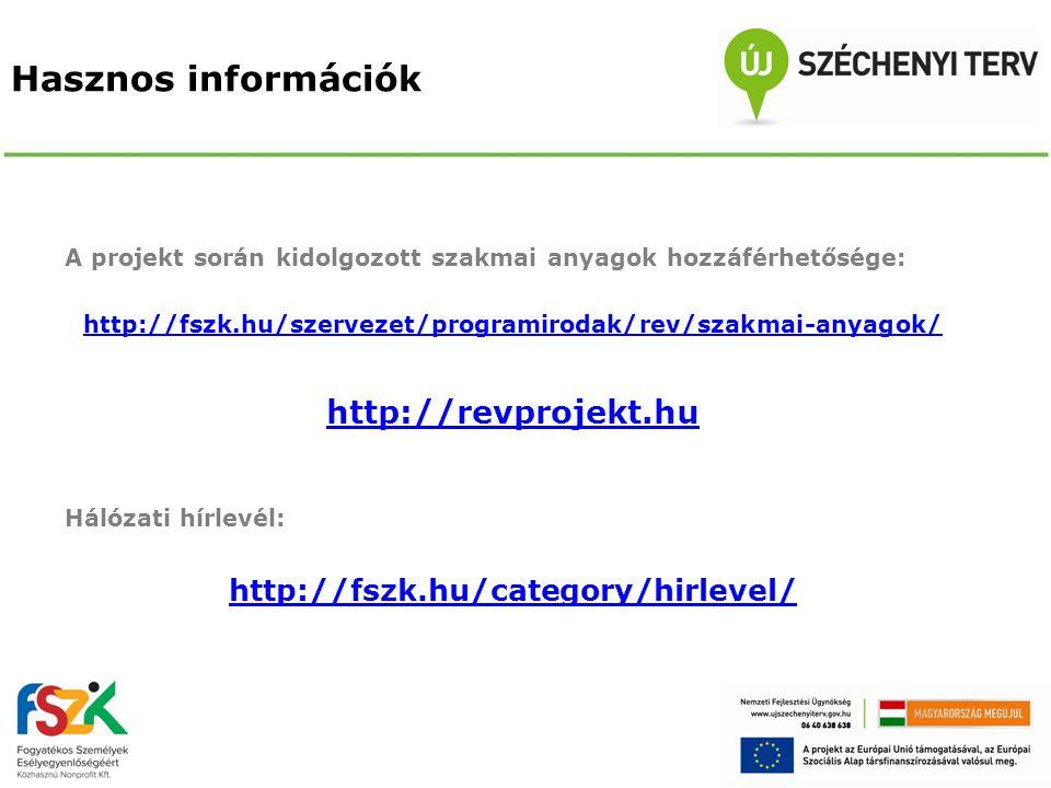 Hasznos információk http://revprojekt.hu