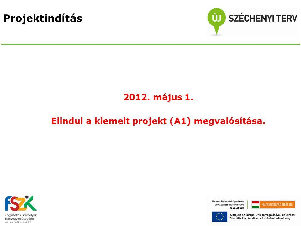 2012. május 1. Elindul a kiemelt projekt (A1) megvalósítása.