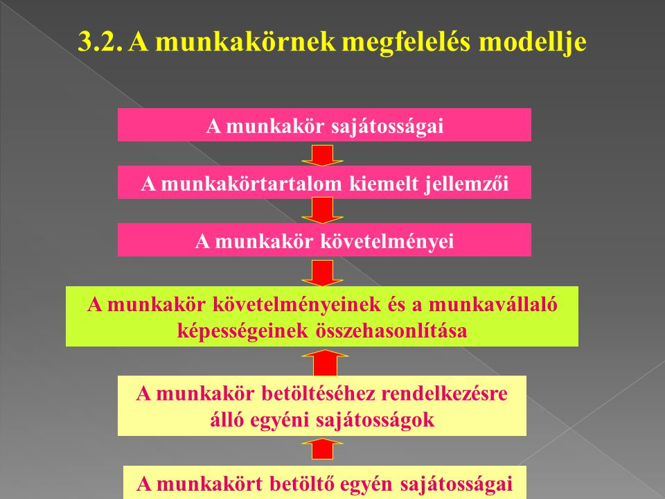 3.2. A munkakörnek megfelelés modellje