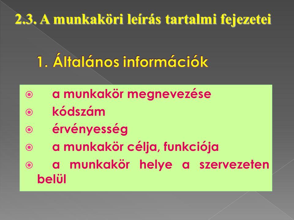 1. Általános információk
