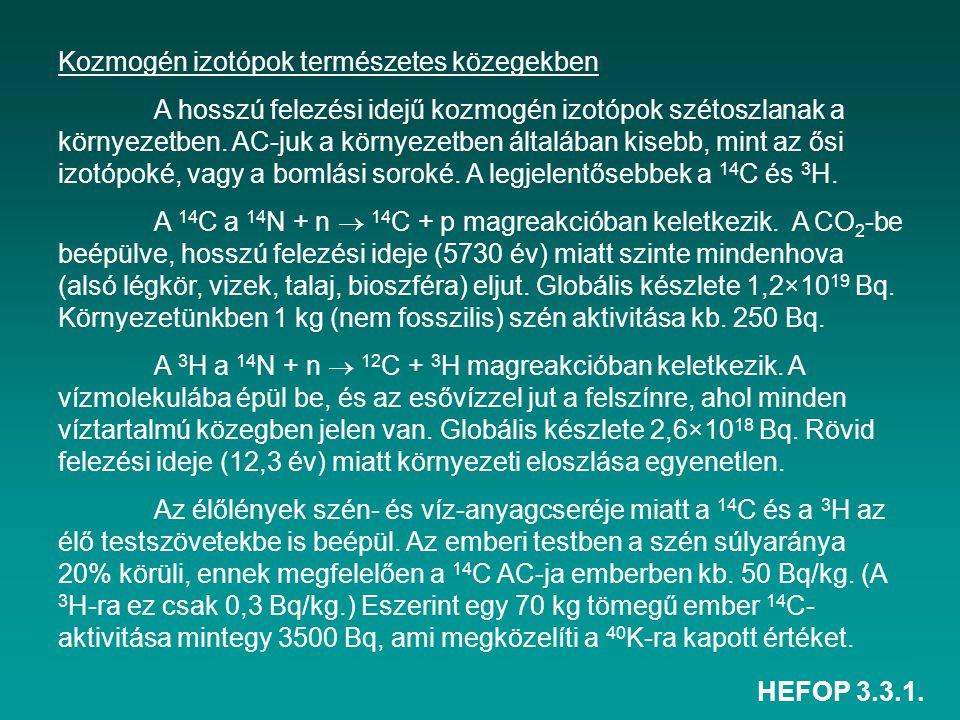 Kozmogén izotópok természetes közegekben