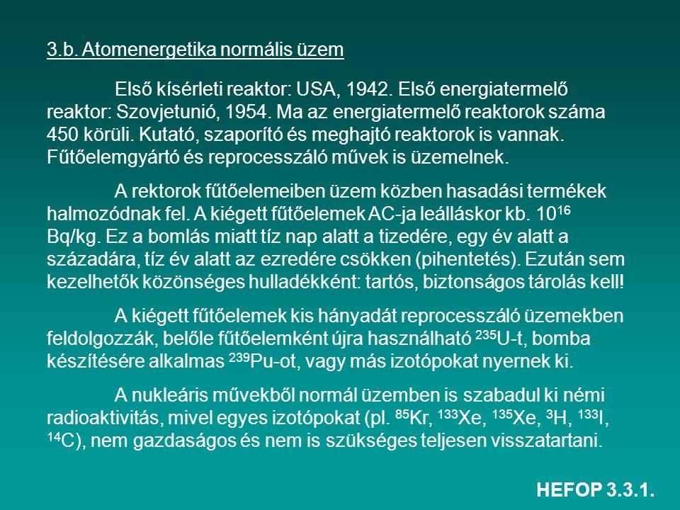 3.b. Atomenergetika normális üzem