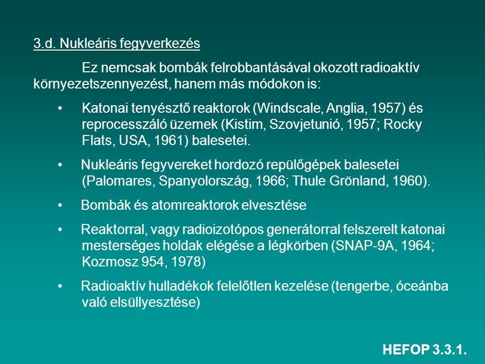 3.d. Nukleáris fegyverkezés