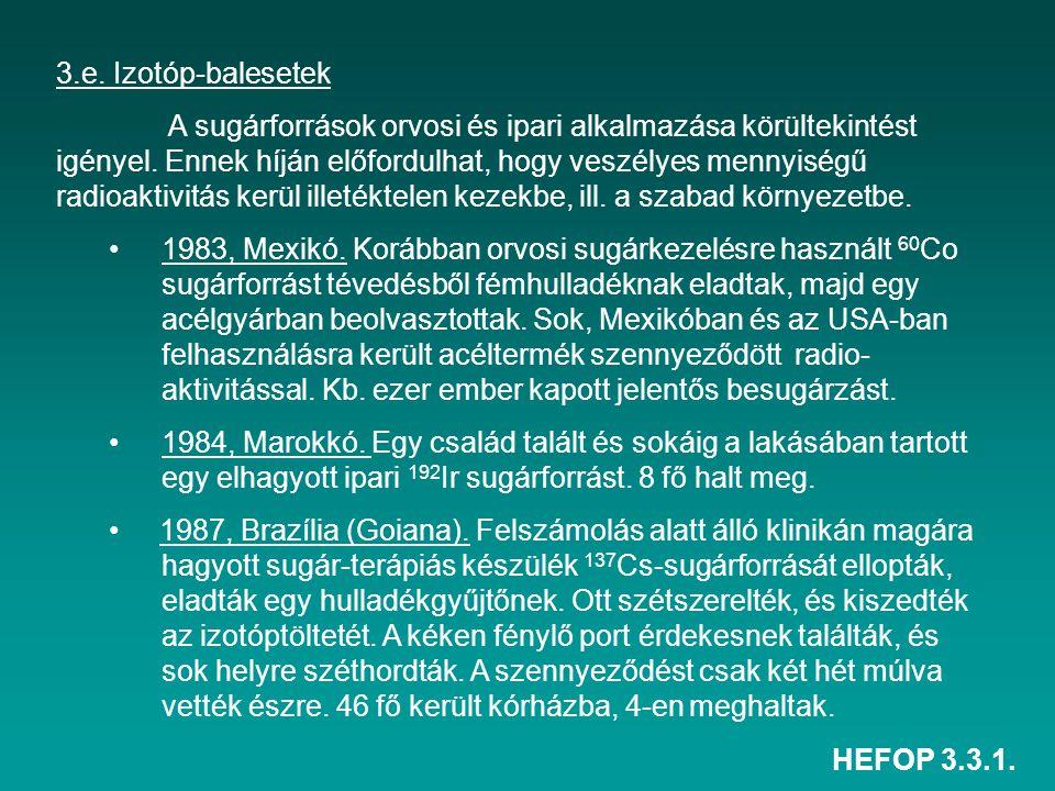 3.e. Izotóp-balesetek