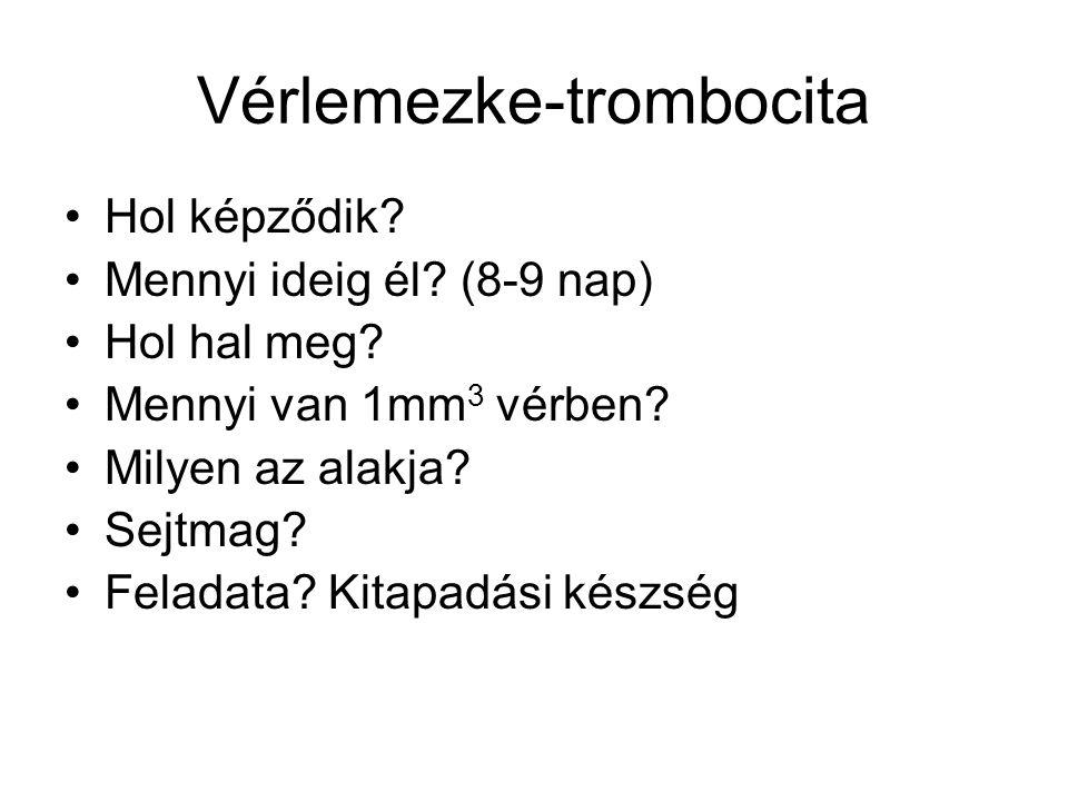 Vérlemezke-trombocita