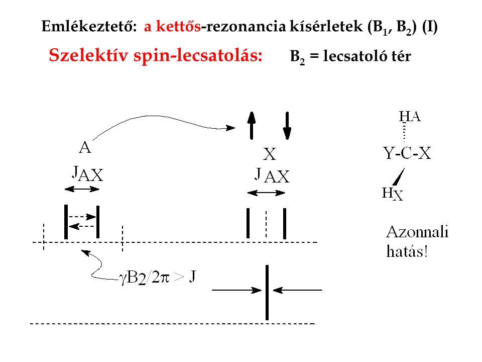 Szelektív spin-lecsatolás: B2 = lecsatoló tér