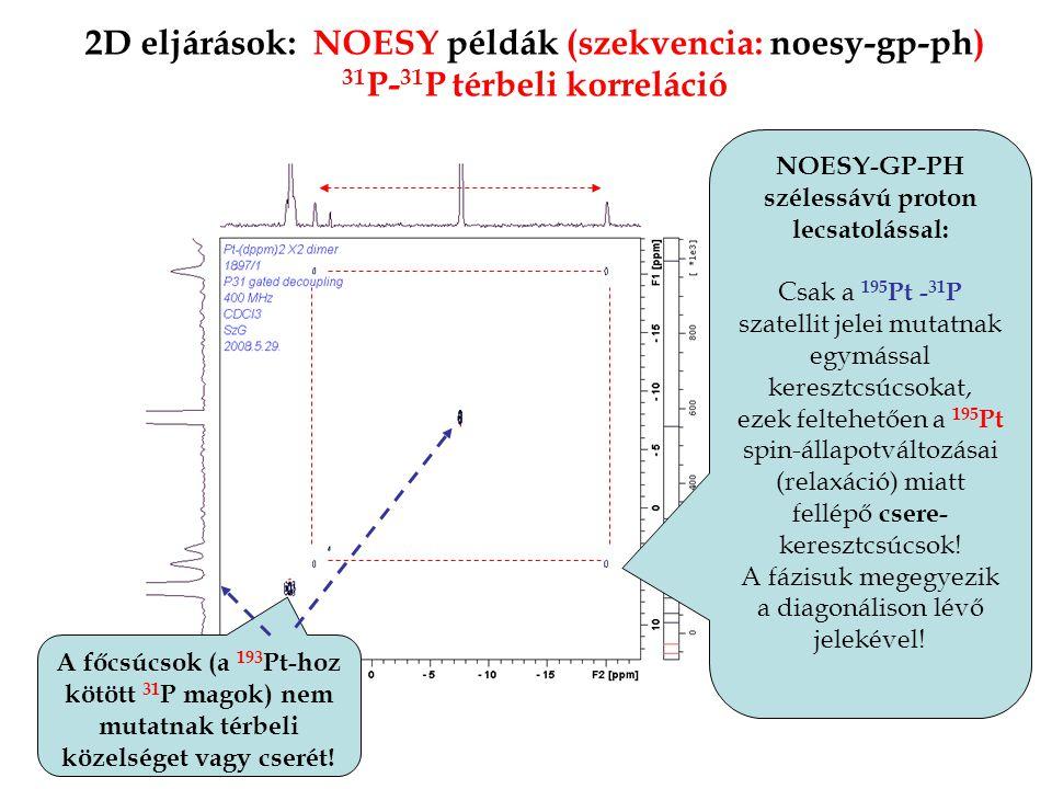 NOESY-GP-PH szélessávú proton lecsatolással: