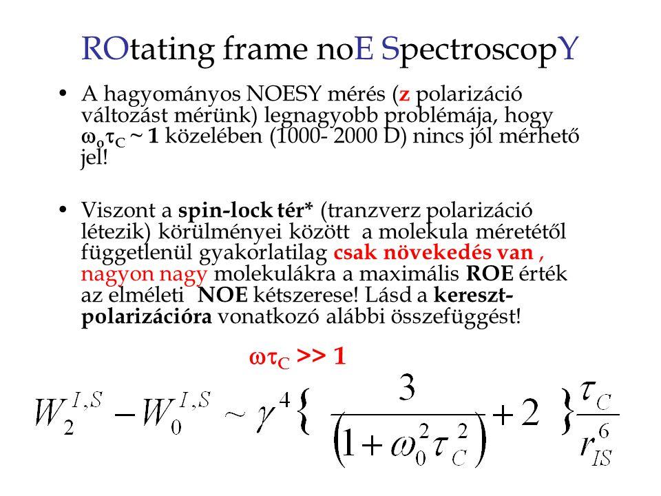 ROtating frame noE SpectroscopY