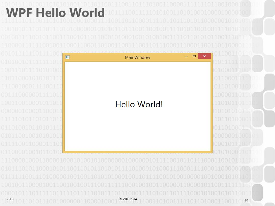 WPF Hello World