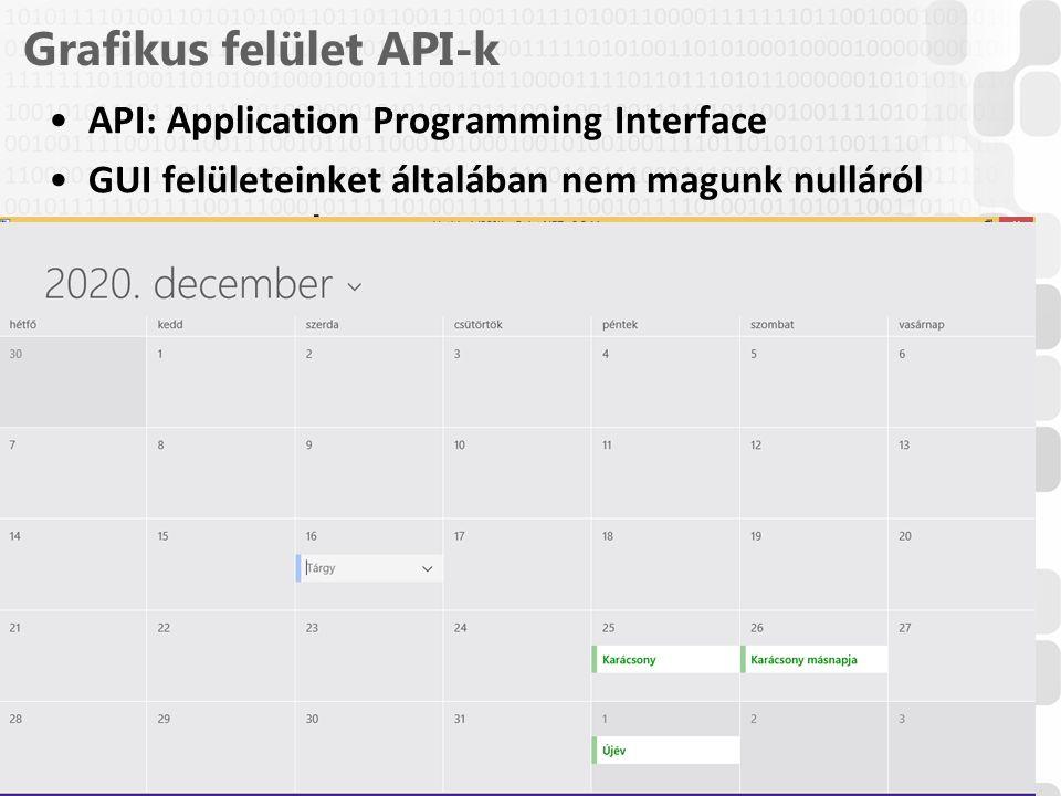 Grafikus felület API-k