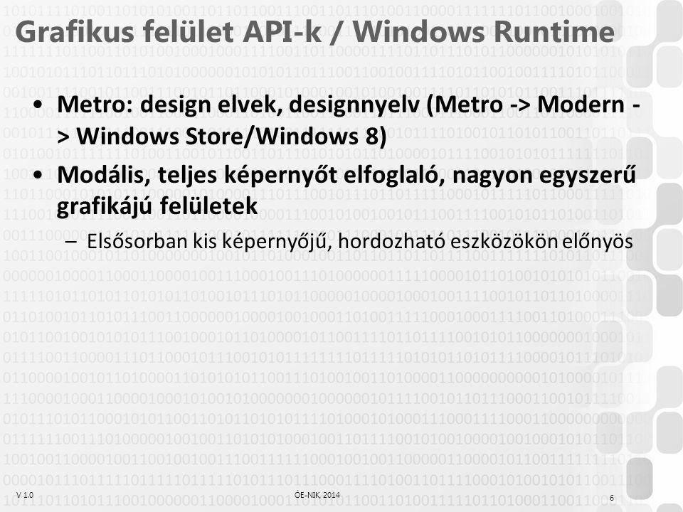 Grafikus felület API-k / Windows Runtime