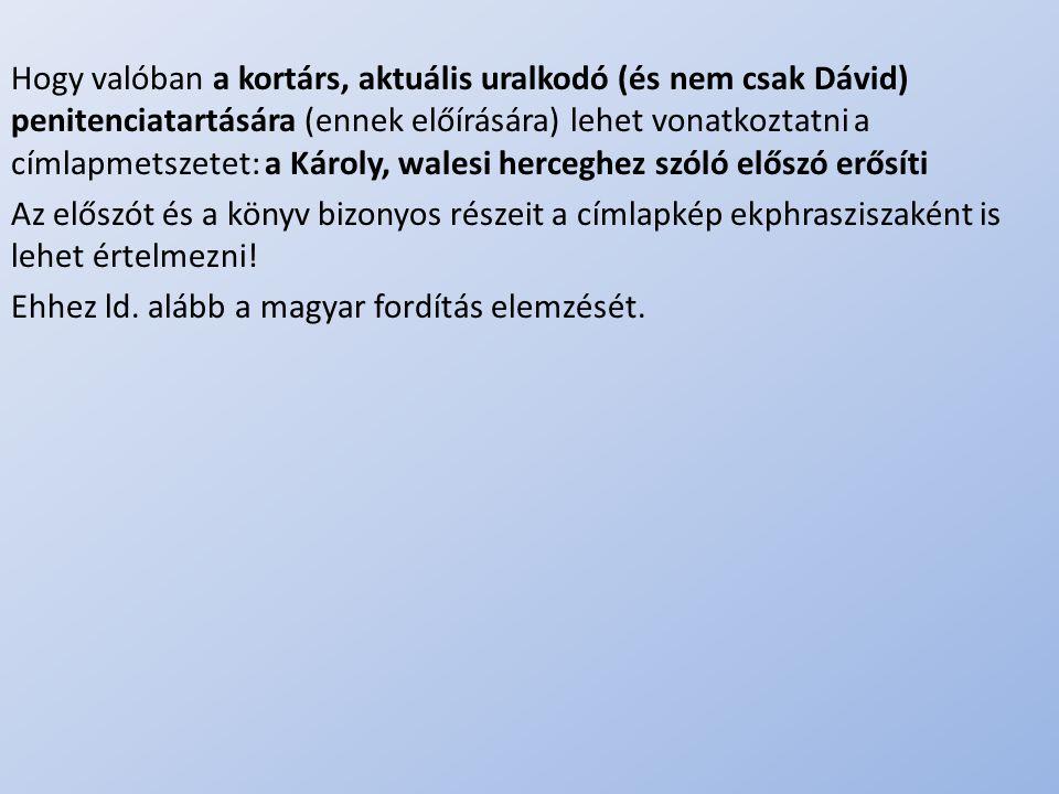 Ehhez ld. alább a magyar fordítás elemzését.