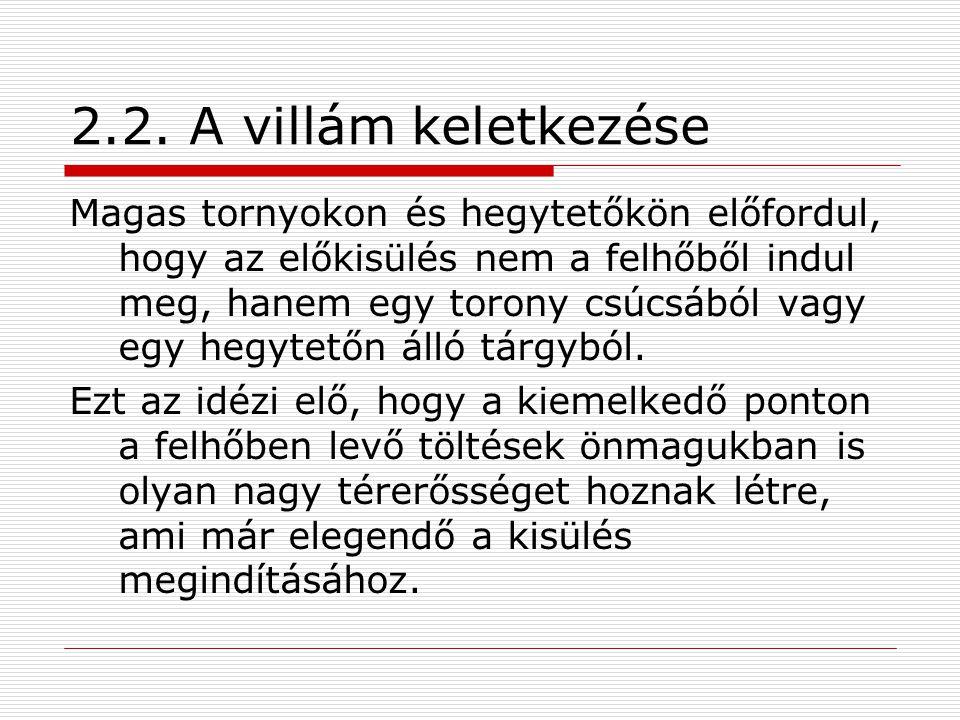 2.2. A villám keletkezése