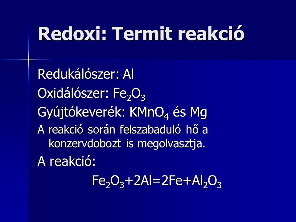 Redoxi: Termit reakció