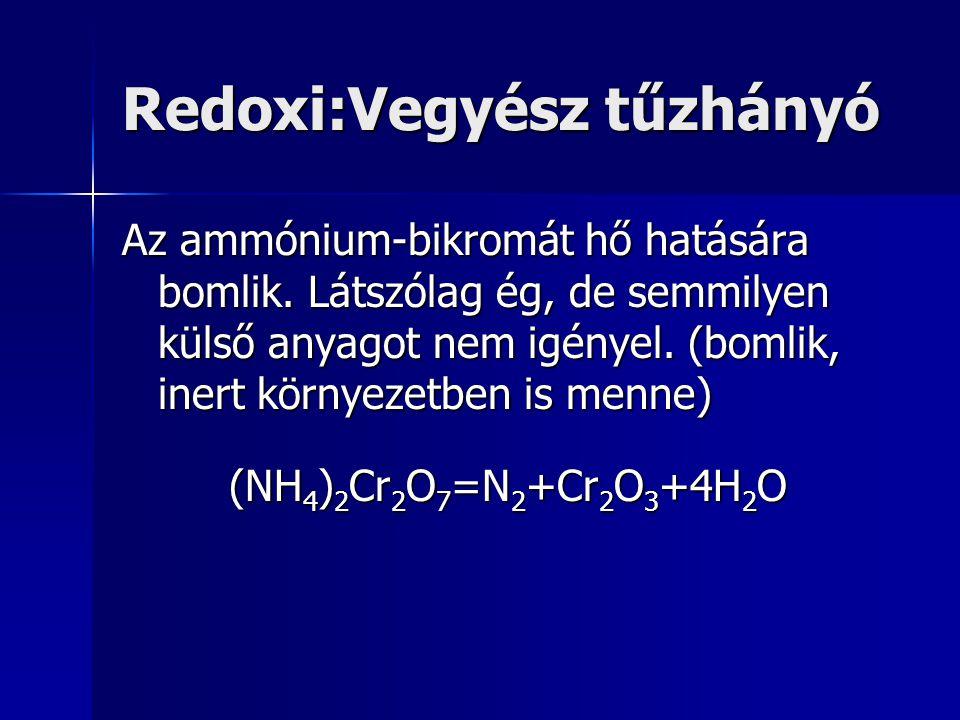 Redoxi:Vegyész tűzhányó