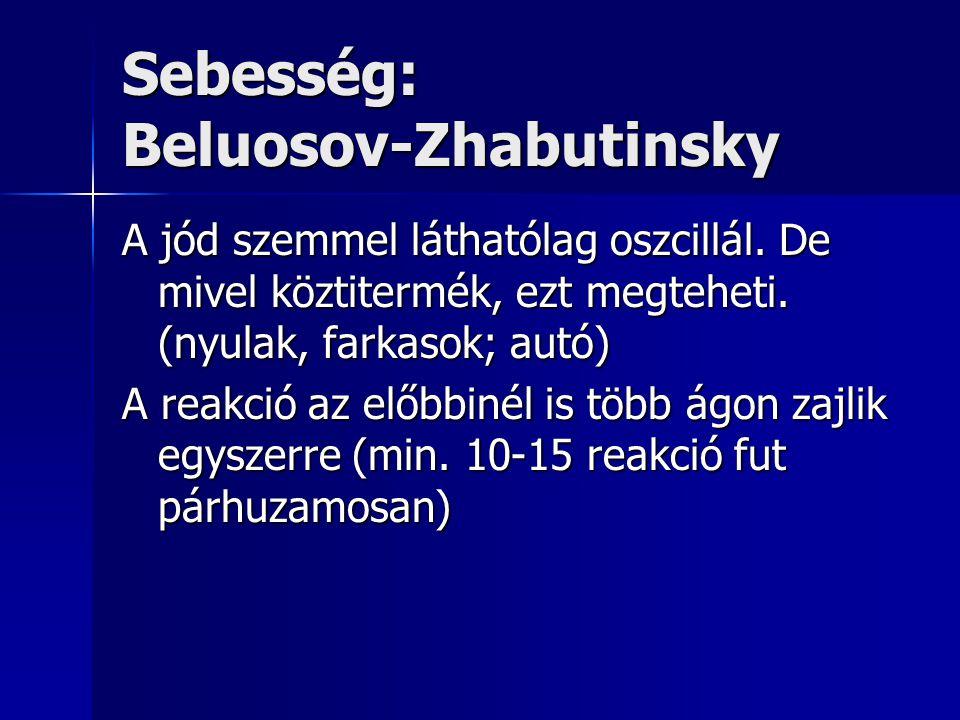 Sebesség: Beluosov-Zhabutinsky