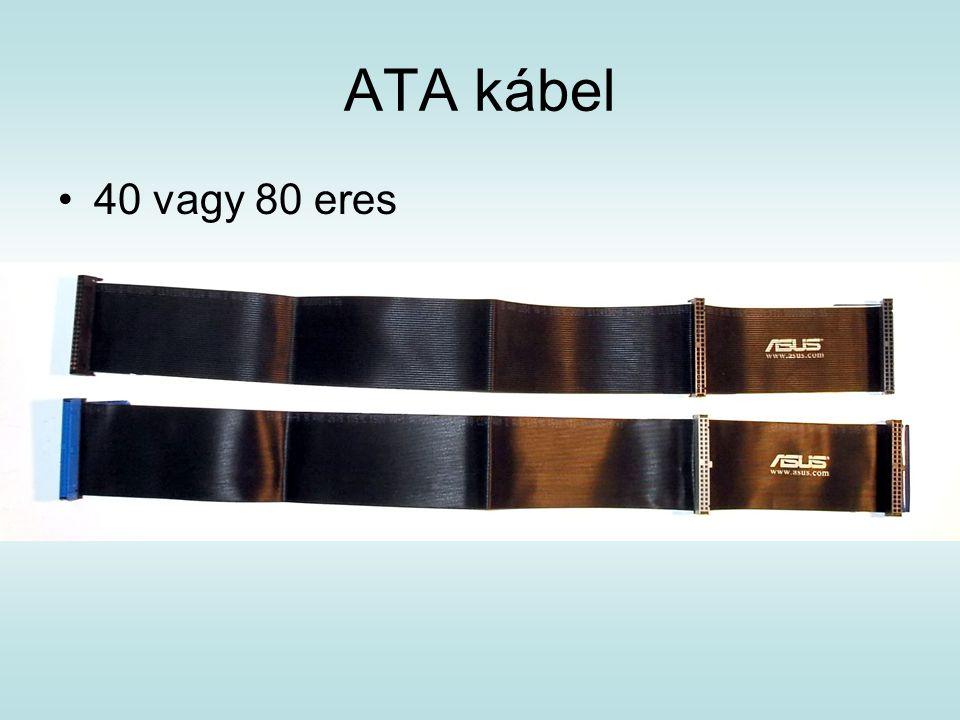 ATA kábel 40 vagy 80 eres