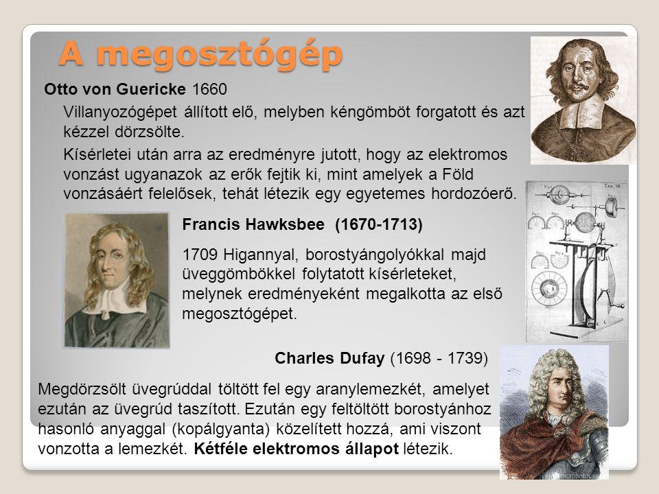 A megosztógép Otto von Guericke 1660