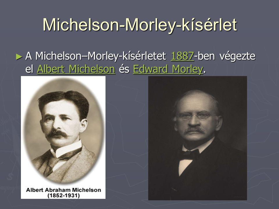 Michelson-Morley-kísérlet