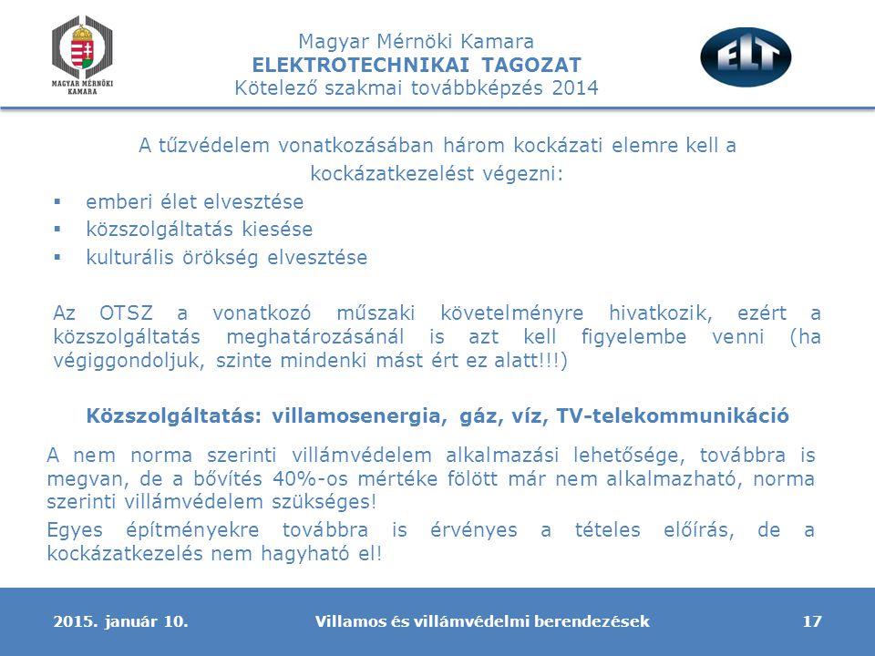 Közszolgáltatás: villamosenergia, gáz, víz, TV-telekommunikáció