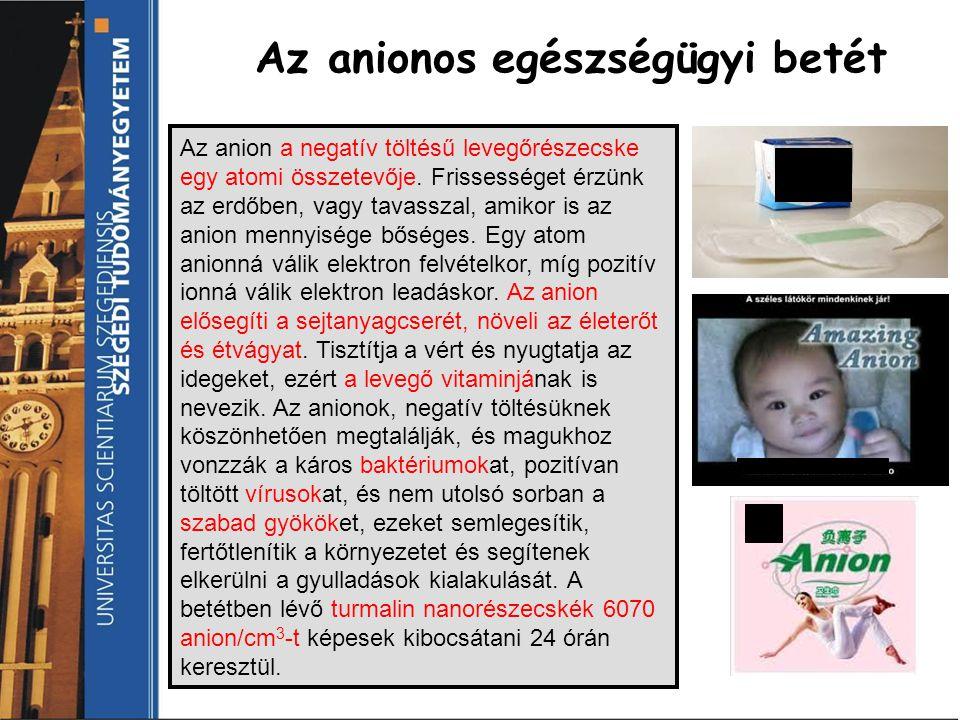 Az anionos egészségügyi betét