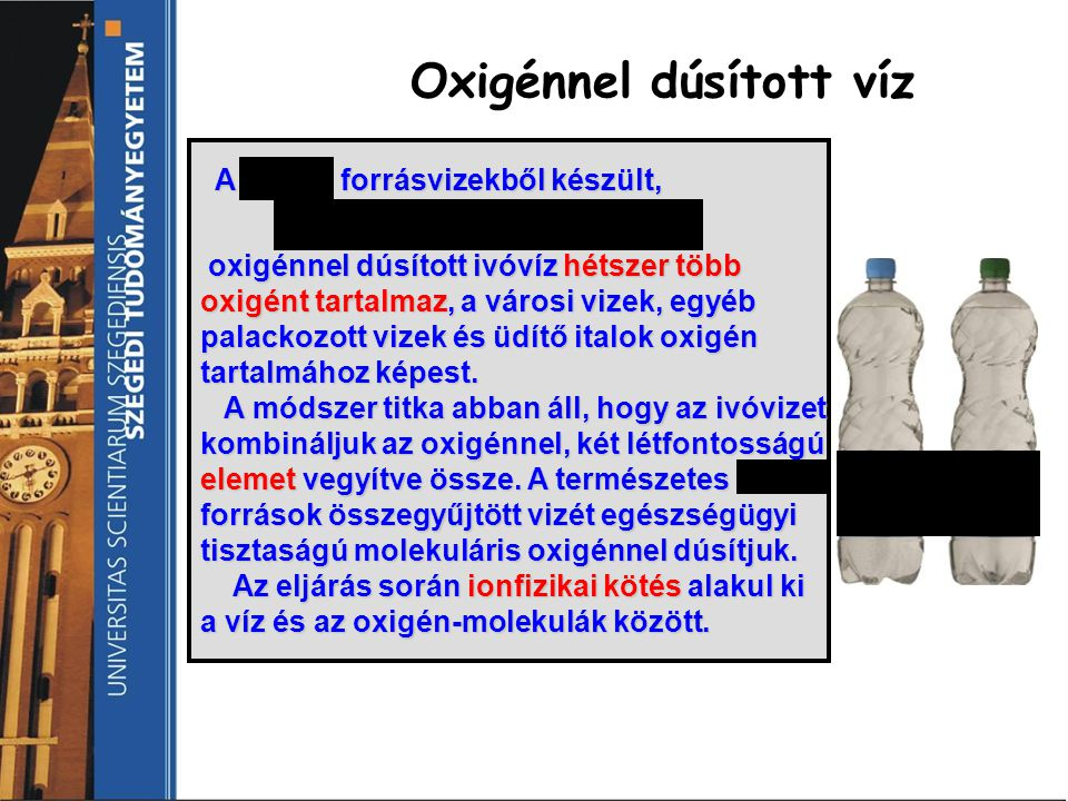 Oxigénnel dúsított víz
