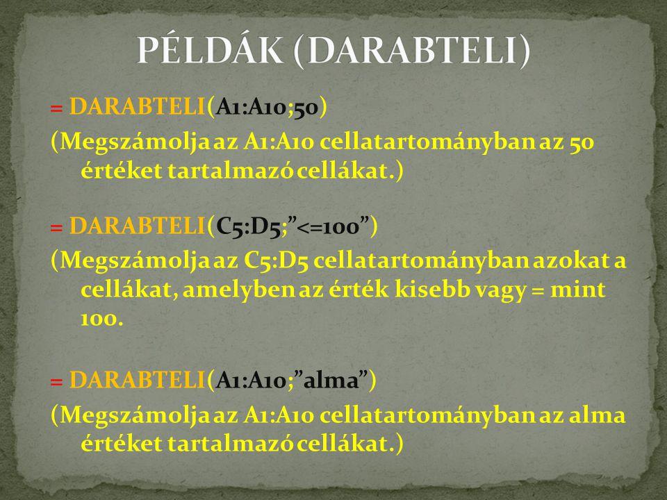 PÉLDÁK (DARABTELI)