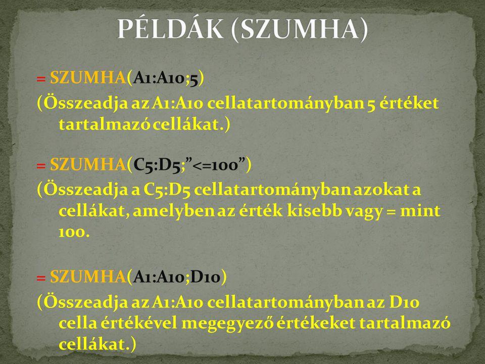 PÉLDÁK (SZUMHA)