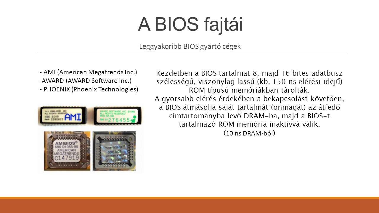 Leggyakoribb BIOS gyártó cégek
