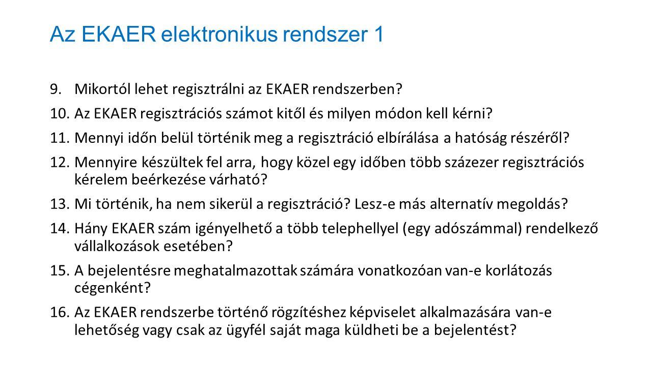 Az EKAER elektronikus rendszer 1