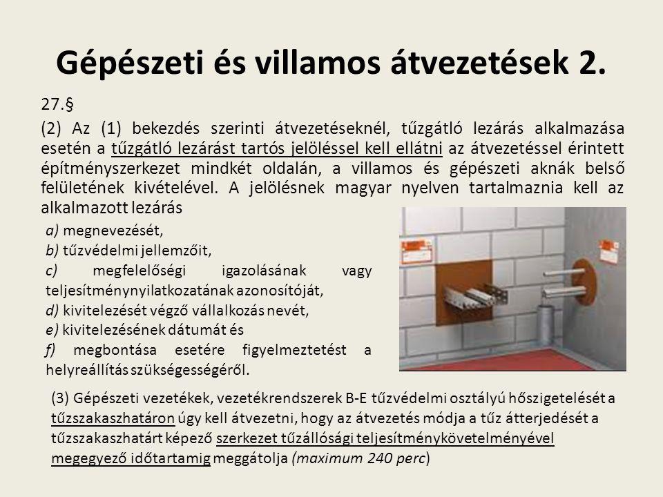 Gépészeti és villamos átvezetések 2.