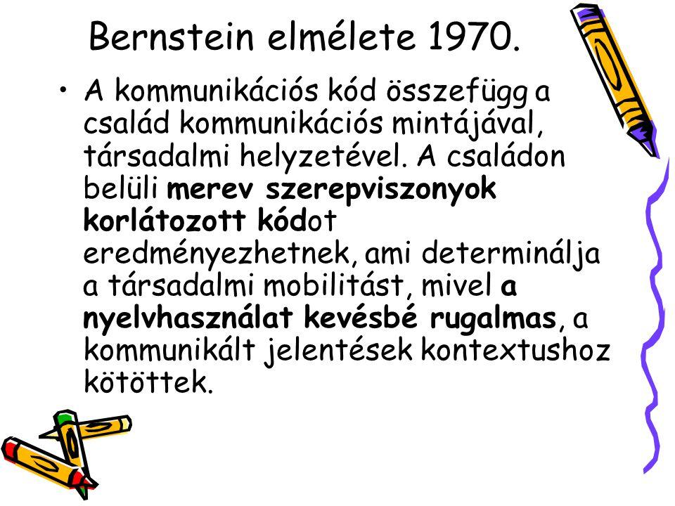 Bernstein elmélete 1970.