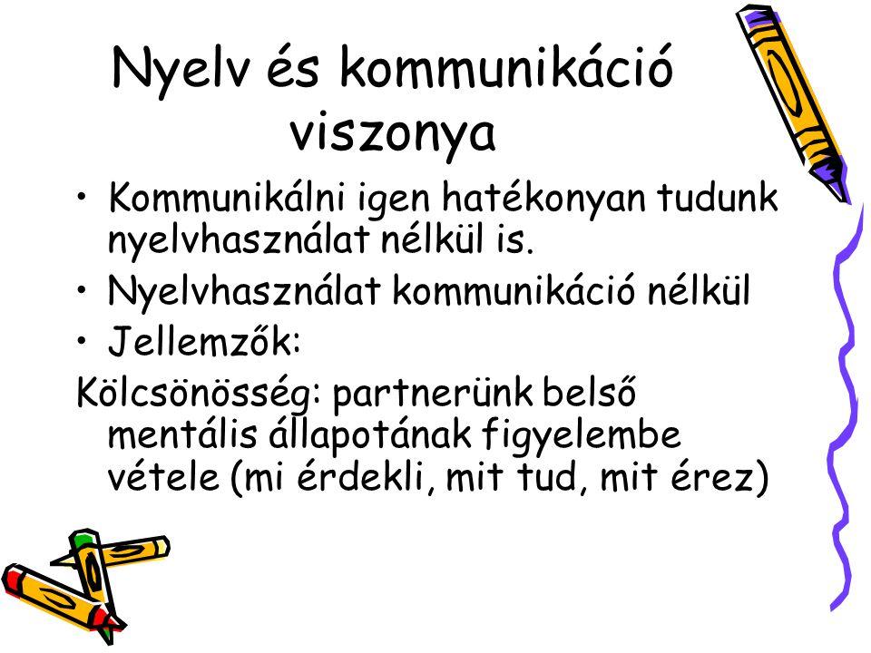 Nyelv és kommunikáció viszonya