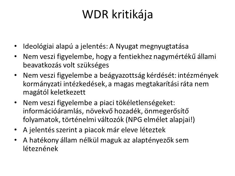 WDR kritikája Ideológiai alapú a jelentés: A Nyugat megnyugtatása