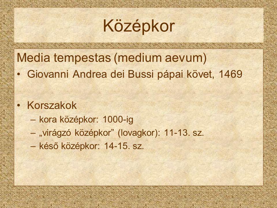 Középkor Media tempestas (medium aevum)