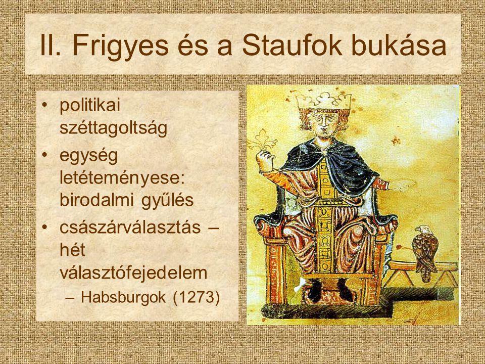 II. Frigyes és a Staufok bukása
