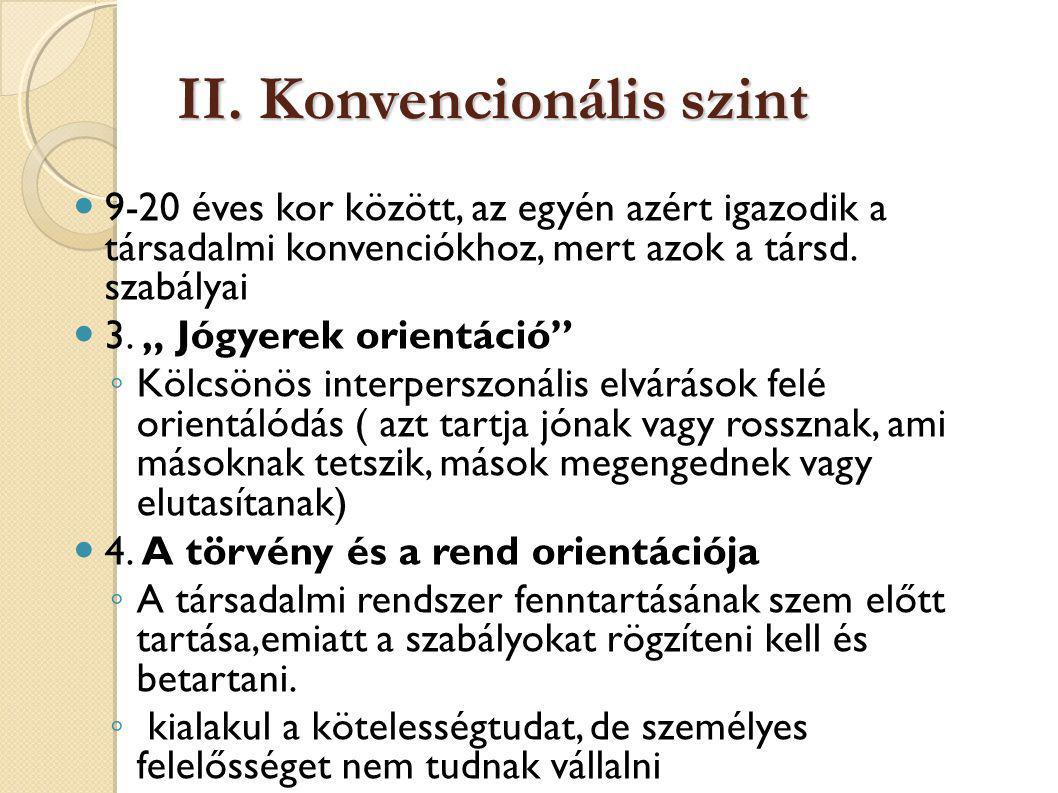II. Konvencionális szint